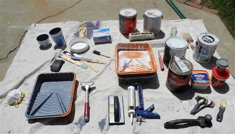 Preparing and cleaning Painting tools
